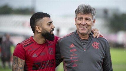 Gabigol e Renato Gaúcho mostram afinidade no início de trabalho no Flamengo