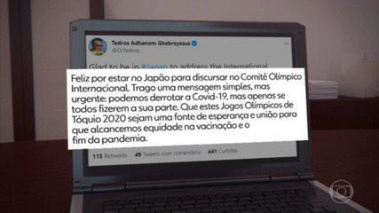 Diretor-geral da OMS divulga mensagem otimista sobre Jogos de Tóquio