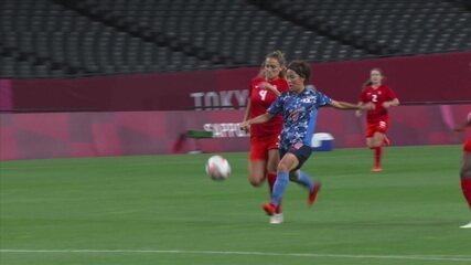 Os gols de Japão 1 x 1 Canadá pelo futebol feminino nas Olimpíadas de Tóquio 2020