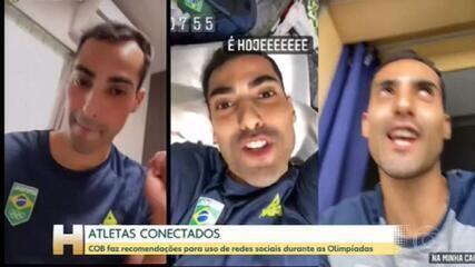 Contra isolamento na Vila Olímpica, atletas se conectam com os fãs pelas redes sociais