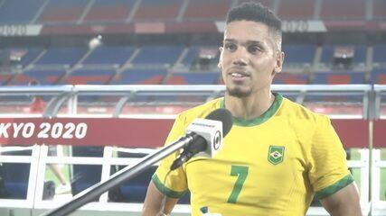 """Autor do quarto gol, Paulinho lembra ano difícil: """"Trabalhei muito para chegar nas Olimpíadas"""""""