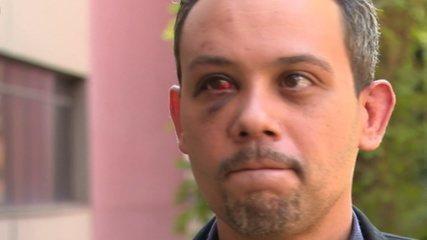 VÍDEO: Advogado que levou série de socos de policial diz que teve medo de morrer