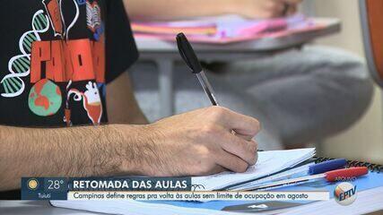 Campinas define regras para volta às aulas sem limite de ocupação das salas em agosto