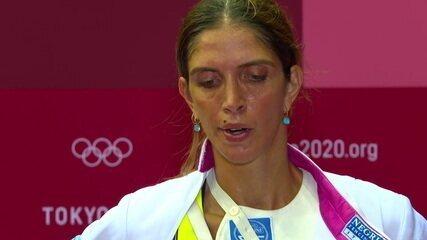 """Nathalie Moellhausen fala da derrota para rival italiana na esgrima: """"Sempre foi uma adversária complicada para mim"""""""