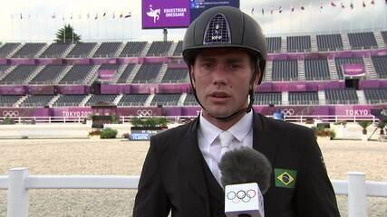 """João Victor Oliva: """"Fiz uma boa montaria. Agora é comprar um saco de cenoura para o cavalo e agradecer muito a ele"""""""