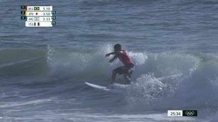 Ítalo vence primeira bateria do Surfe com somatória de 13.67 pontos