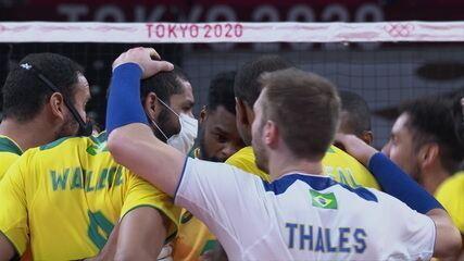 Melhores momentos: Brasil 3 x 2 Argentina pelo vôlei masculino nas Olimpíadas Tóquio 2020
