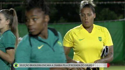 Seleção brasileira feminina de futebol encara a Zâmbia pela 3ª rodada do Grupo F