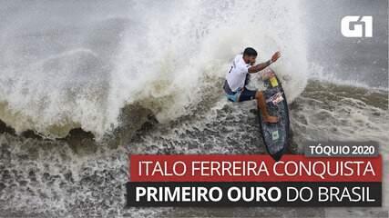 VÍDEO: Veja manobra do surfista Italo Ferreira na prova que rendeu o primeiro ouro ao Brasil nas Olimpíadas