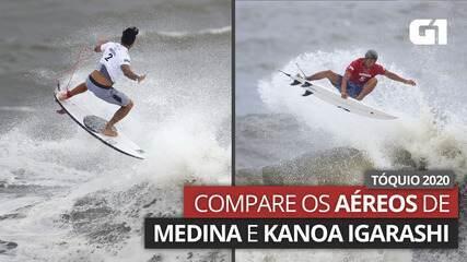 Olimpíadas de Tóquio: compare os aéreos de Gabriel Medina e Kanoa Igarashi