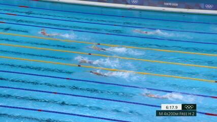 Brasil termina em quarto e se classifica para final dos 4x200m livre