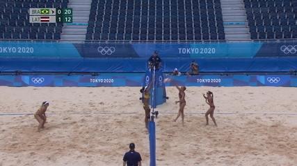2º set: dupla brasileira fecha o set