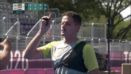 Marcus D'Almeida derrota holandês e está nas oitavas do tiro com arco nas Olimpíadas de Tóquio