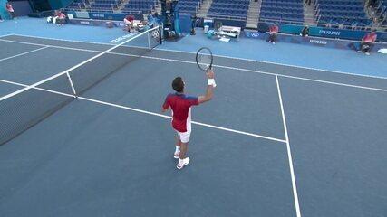 Melhores momentos: Novak Djokovic vence Davidovich Fokina e avança nas Olimpíadas de Tóquio