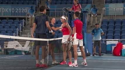 Djokovic vibra muito após vencer Stefani/Melo