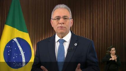 VÍDEO: Ministro da Saúde pede que brasileiros tomem a segunda dose da vacina