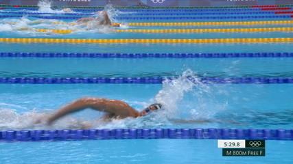 Guilherme Costa termina em oitavo, Robert Finke (EUA) leva o ouro nos 800m livre masculino nos Jogos de Tóquio