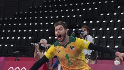 Bom bloqueio de Bruninho, e Brasil abre 22 a 18
