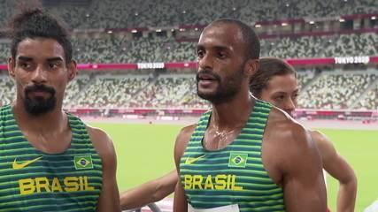 Time Brasil analisa o que faltou para saírem com a classificação no revezamento 4x400m