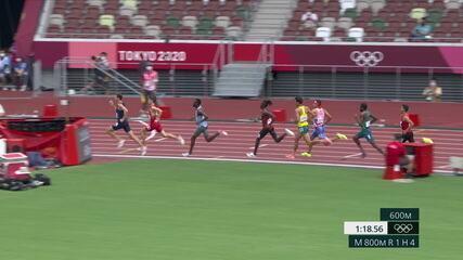Thiago André chega em 8º nos 800m