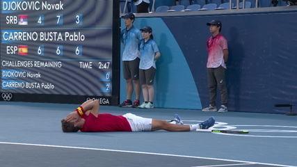 Pablo Carreño Busta vence Novak Djokovic e fica com o bronze no tênis masculino - Olimpíadas de Tóquio