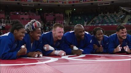 França vence Japão e é ouro na final por equipes do judô - Olimpíadas de Tóquio