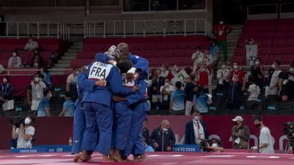Melhores momentos: França 4 x 1 Japão no judô por equipes mistas - Olimpíadas de Tóquio