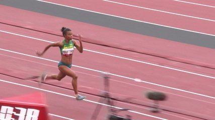 Eliane Martins atinge a marca de 6.43m no salto - Olimpíadas de Tóquio
