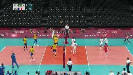 Melhores momentos: Brasil 3 x 2 França pelo vôlei masculino - Olimpíadas de Tóquio