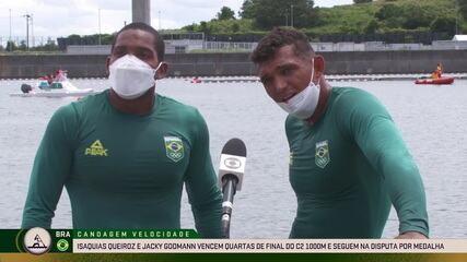 Isaquias Queiroz e Jacky Godmann falam após a classificação para a semifinal