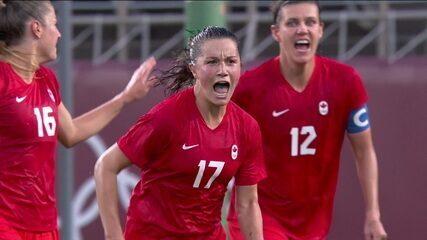 O gol da vitória de Canada 1 x 0 Estados Unidos - Olimpíadas de Tóquio 2020