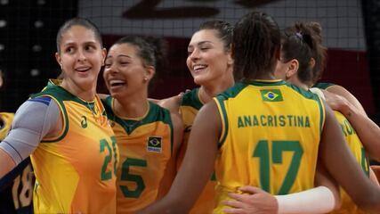 Melhores momentos de Brasil 3 x 0 Quênia pelo vôlei feminino nas Olimpíadas de Tóquio
