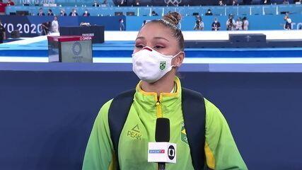 """Flávia Saraiva fala sobre lesão e adversidades até chegar nas Olimpíadas: """"Me sinto vitoriosa só de estar aqui"""""""