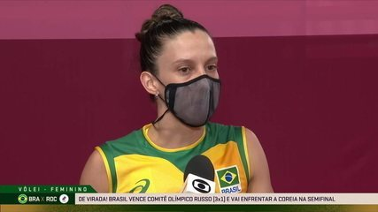 """De volta às quadras, Macris fala sobre vitória do Brasil e recuperação: """"Palavras que resumem: trabalho em grupo"""""""