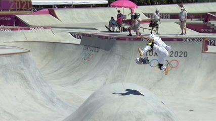Luiz Francisco faz 84.31 na segunda volta da bateria classificatória do skate park - Olimpíadas de Tóquio