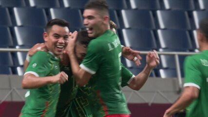 Os gols de México 3 x 1 Japão pela disputa do bronze no futebol masculino