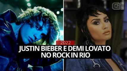 Justin Bieber e Demi Lovato estarão no Rock in Rio em 2022
