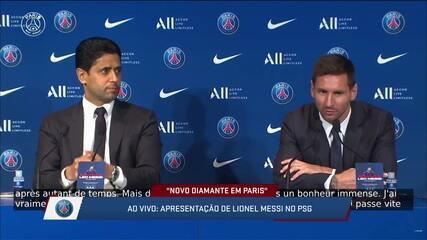 Messi se diz emocionado e com sede de continuar ganhando na chegada ao PSG