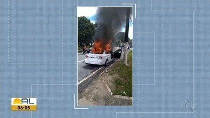 Vídeo flagra carro momentos antes de atingir moto em acidente fatal na Durval de Góes