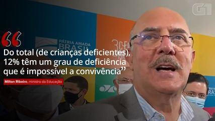 Milton Ribeiro diz que há crianças com deficiência em que 'é impossível a convivência'