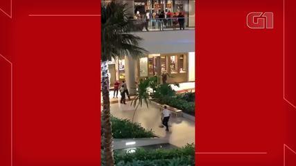 Mulher morre após ser baleada em shopping de Fortaleza.