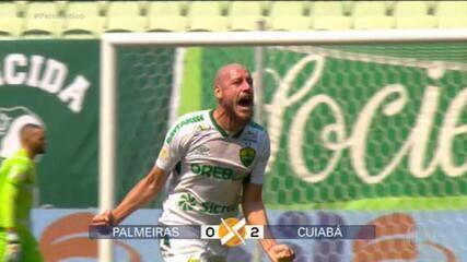 Gols do Fantástico: Cuiabá vence o Palmeiras fora de casa