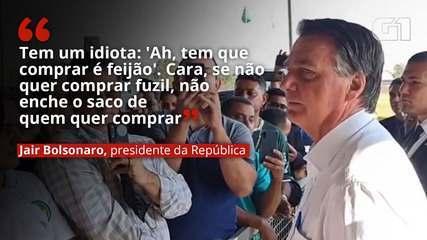 Bolsonaro chama de idiota quem diz que tem que comprar feijão e defende compra de fuzis