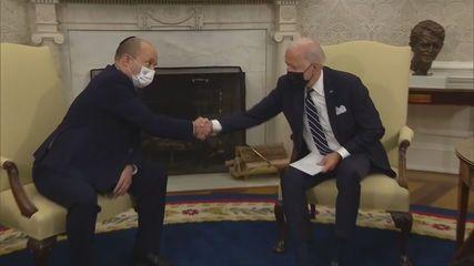 Joe Biden encontra primeiro-ministro de Israel, Naftali Bennett