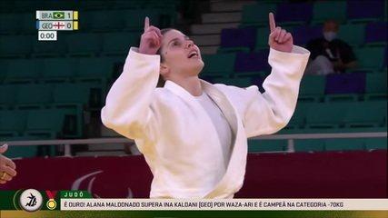 Alana Maldonado conquista ouro no judô na categoria até 70kg - Paralimpíadas de Tóquio