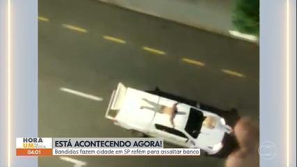 Bandidos atacam agência bancária e fazem reféns em Araçatuba (SP)