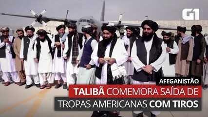 Video: Taliban celebrate firing on US troops fleeing Afghanistan