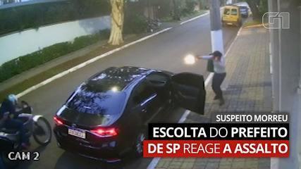 Vídeo: Equipe de segurança do prefeito de SP reage a tentativa de assalto e suspeito morre