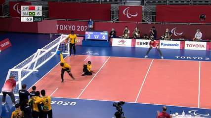 Os gols de China 2 x 7 Brasil na final do Goalball masculino - Paralimpíadas de Tóquio