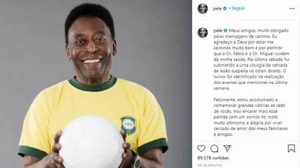 Pelé anuncia que está com tumor no aparelho digestivo em rede social